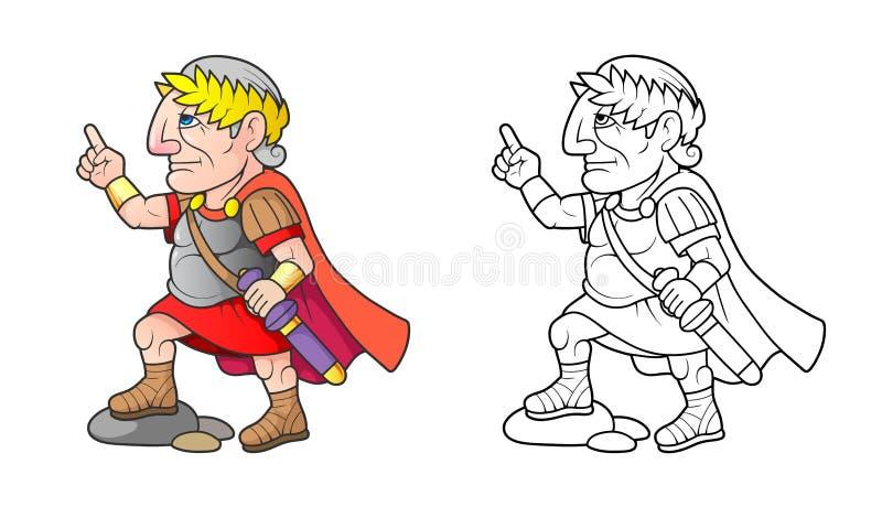 Caesar prepara-se para entregar um discurso ilustração stock