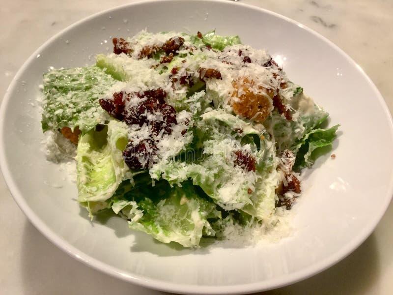 Caesar sałatka smakosz Świeży sałatkowy naczynie obrazy stock