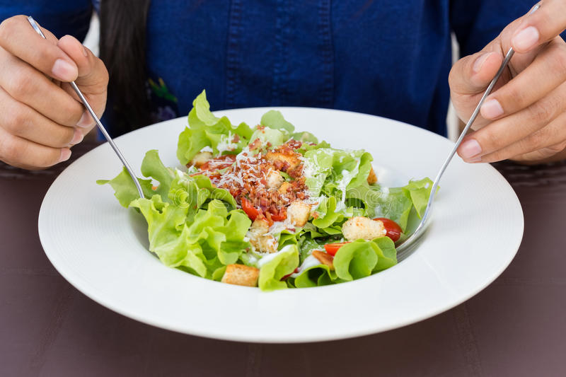 Caesar Salad Healthy stock photos