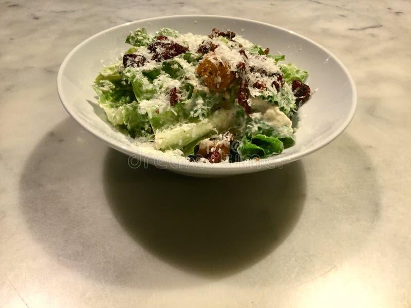 Caesar Salad Plate délicieux image libre de droits