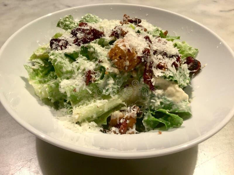 Caesar Salad Plate frais photo libre de droits