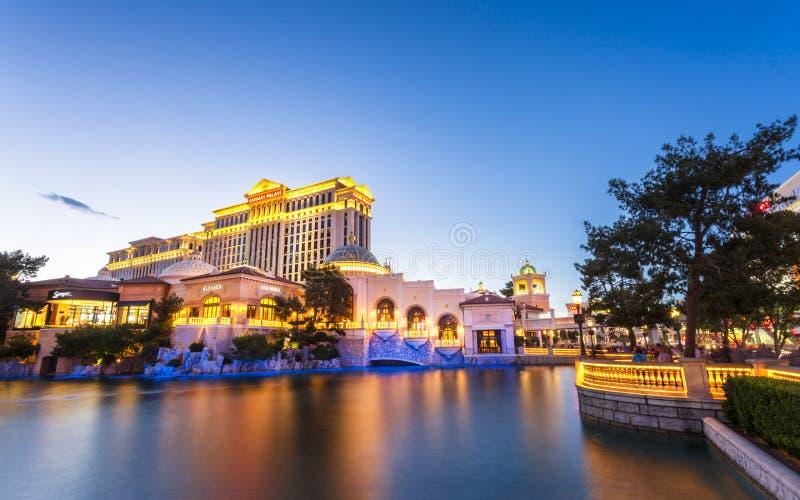 Caesar slott och Bellagio, remsan, Las Vegas Boulevard, Las Vegas arkivfoton