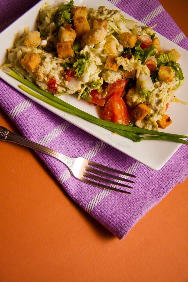 Download Caesar z croutons obraz stock. Obraz złożonej z żywienioniowy - 65225423