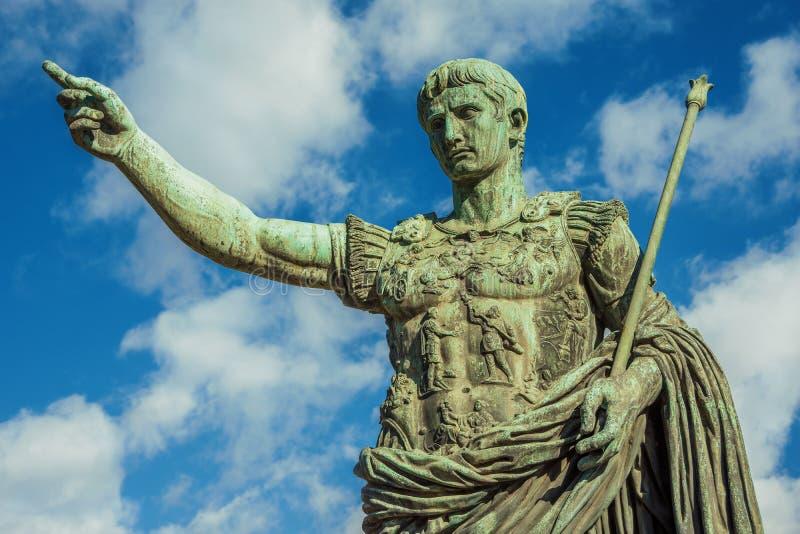 Caesara Augustus, primeiro imperador de Roma antiga imagens de stock royalty free