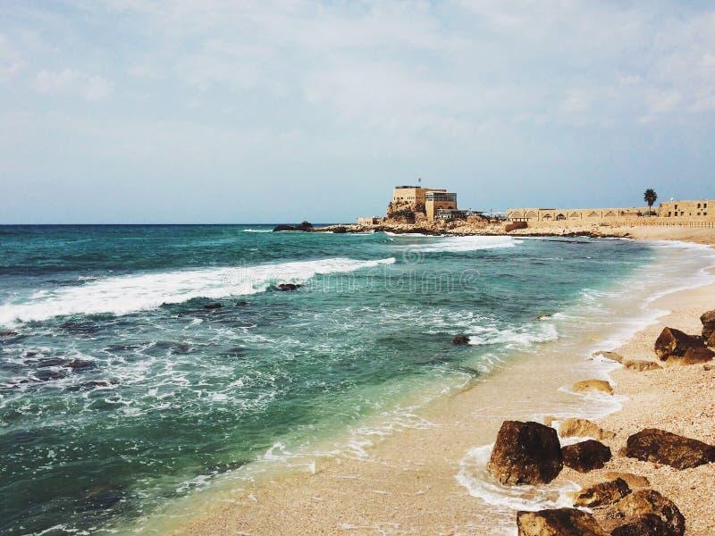 Caesarea, Israël royalty-vrije stock fotografie