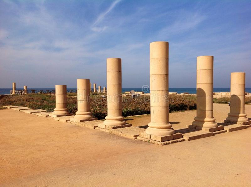 Caesarea, Israel stockbilder