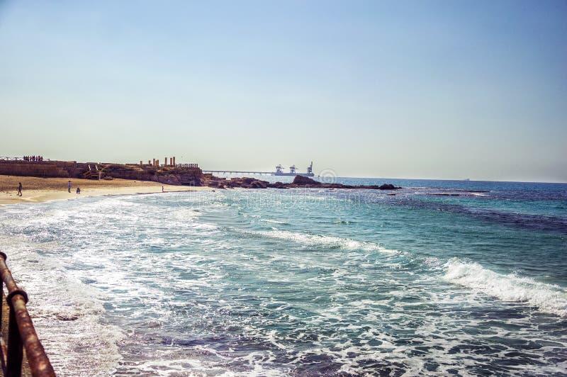 Caesarea, Israel foto de stock