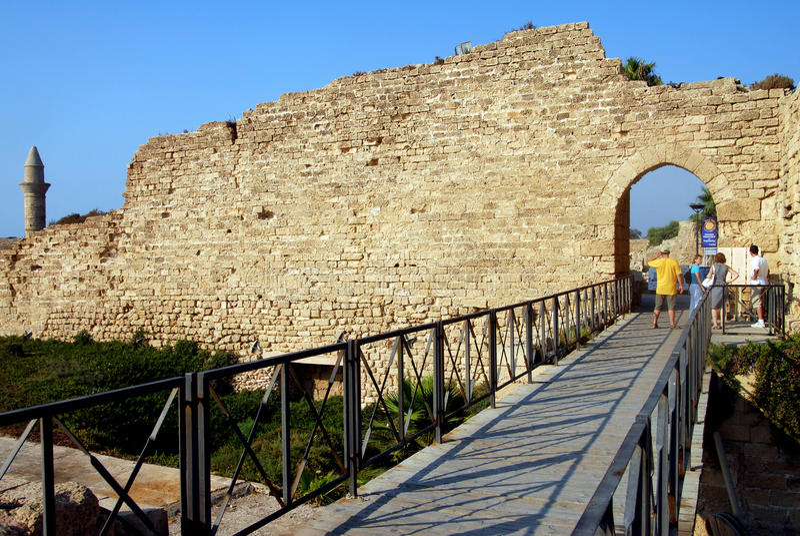 Caesarea Maritima - Israel foto de stock royalty free