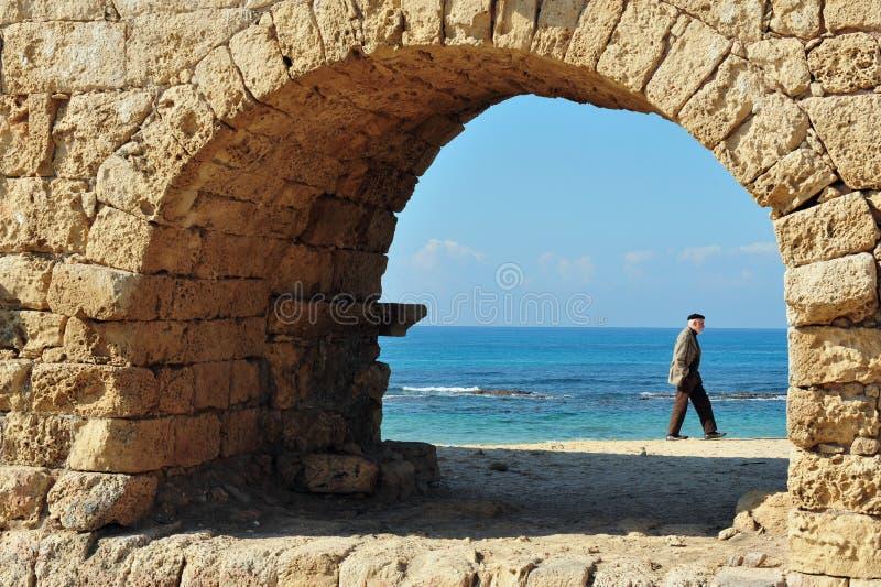 Caesarea Maritima - Israel imagens de stock