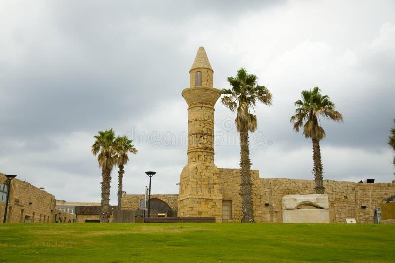 Caesarea, mesquita velha fotografia de stock
