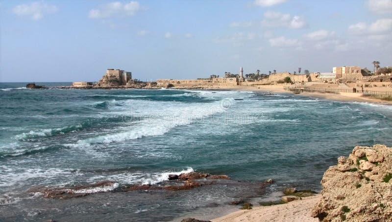 Caesarea Middellandse Zee royalty-vrije stock afbeelding