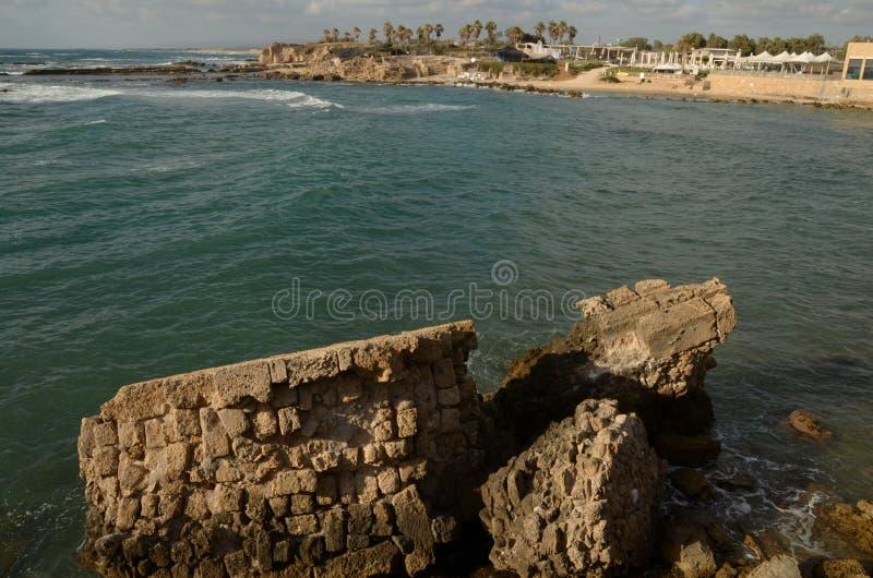 Caesarea Middellandse Zee in de zomer royalty-vrije stock fotografie