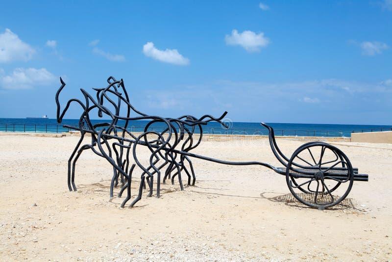 Caesarea ruins royalty free stock images