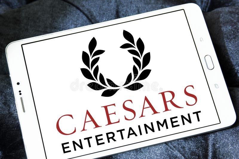 Caesars Entertainment-Firmenlogo stockbild