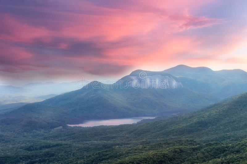 Caesars head viewpoint sunset sky over amazing landscape royalty free stock photography