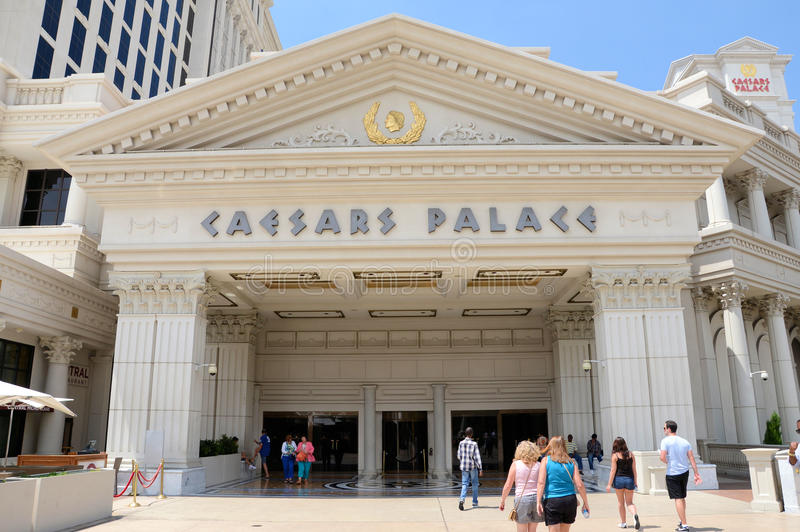 Caesars Palace-Eingang stockfotos