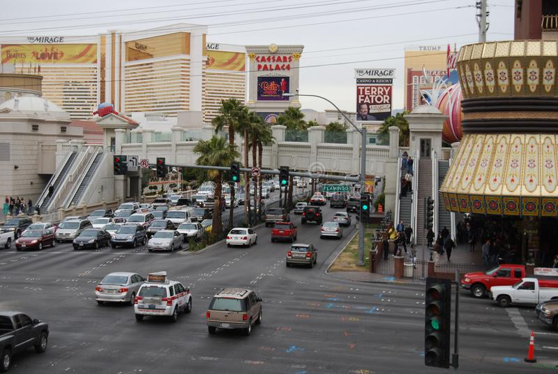 Caesars Palace, Caesars Palace, Las Vegas, coche, zona metropolitana, transporte, zona urbana fotografía de archivo