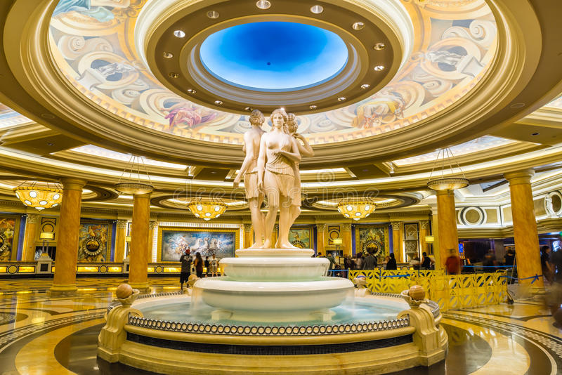 Caesars Palace-Lobby stockfotos
