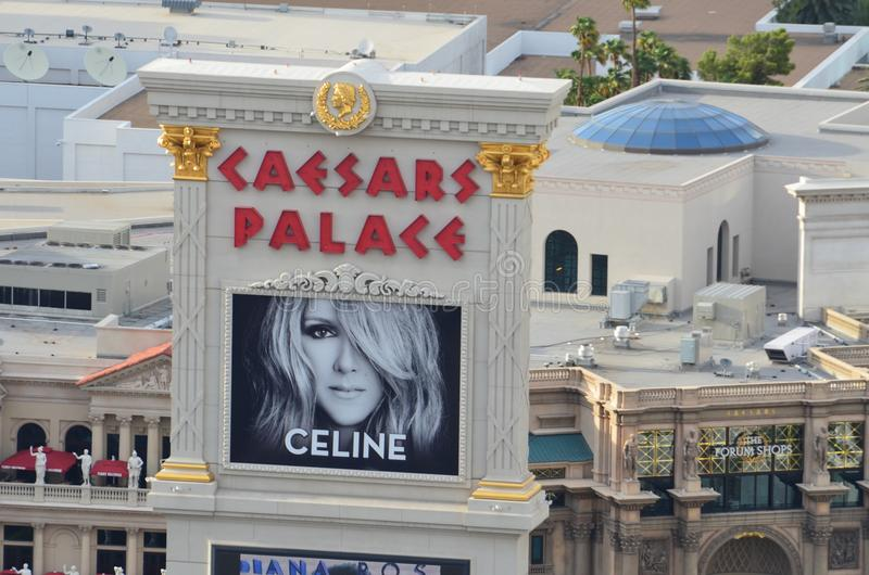 Caesars Palace, McCarran International Airport, building, advertising, facade, window stock image