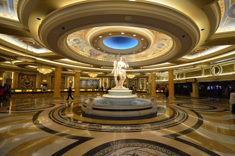 Caesars Palace, caesars palace, McCarran lotnisko międzynarodowe, punkt zwrotny, lobby, sufit, wewnętrzny projekt zdjęcia stock