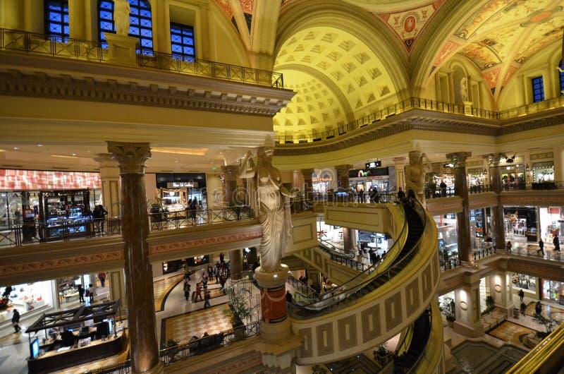Caesars Palace Caesars Palace, shoppinggalleria, detaljhandel, byggnad, shopping royaltyfria foton