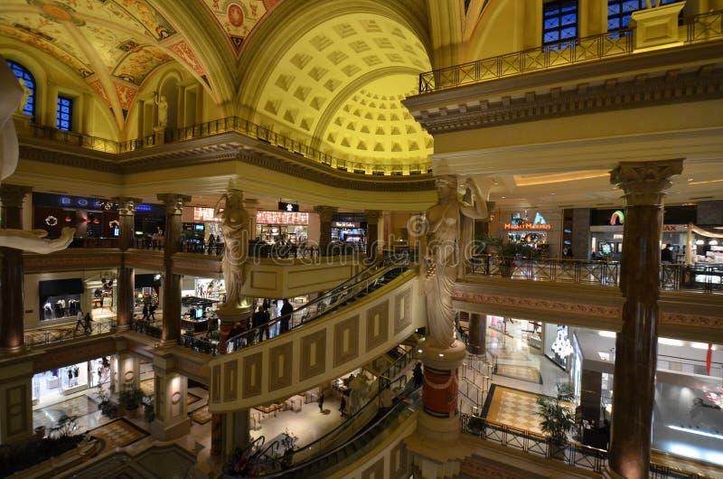Caesars Palace, zakupy centrum handlowe, budynek, metropolia, zakupy obrazy royalty free