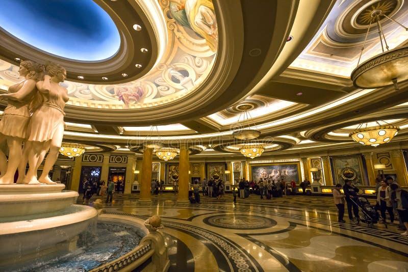 Caesars Palacehotelllobby, Las Vegas, Nevada royaltyfri fotografi