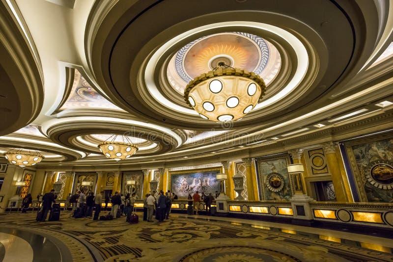 Caesars Palacehotelllobby, Las Vegas, Nevada arkivfoto