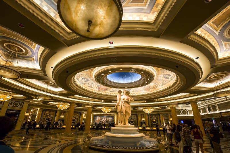 Caesars Palacehotelllobby, Las Vegas, Nevada arkivbild
