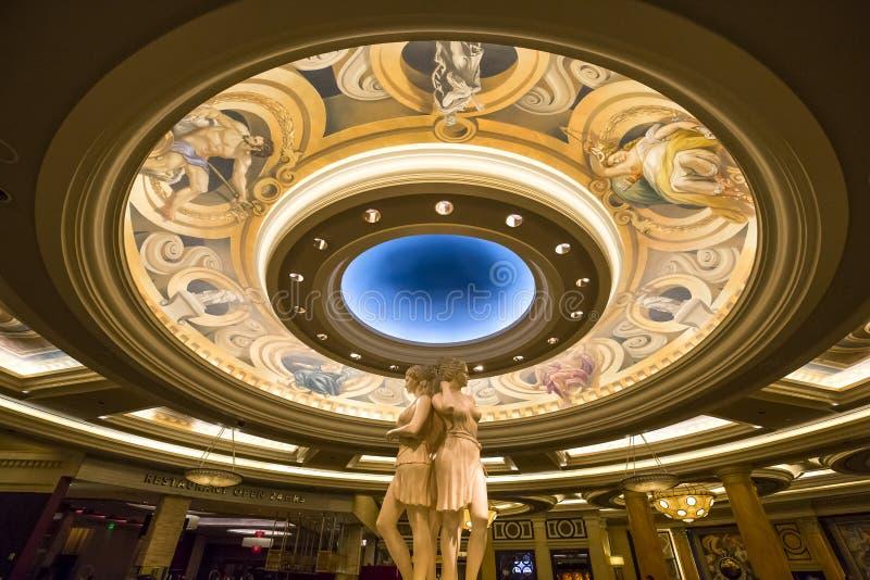 Caesars Palacehotelllobby, Las Vegas, Nevada arkivbilder
