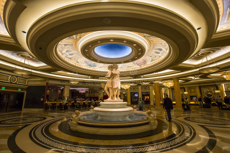 Caesars Palacehotelllobby, Las Vegas, Nevada royaltyfri bild