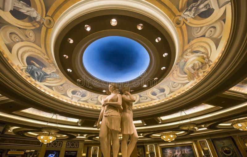 Caesars Palacehotelllobby, Las Vegas, Nevada royaltyfria bilder