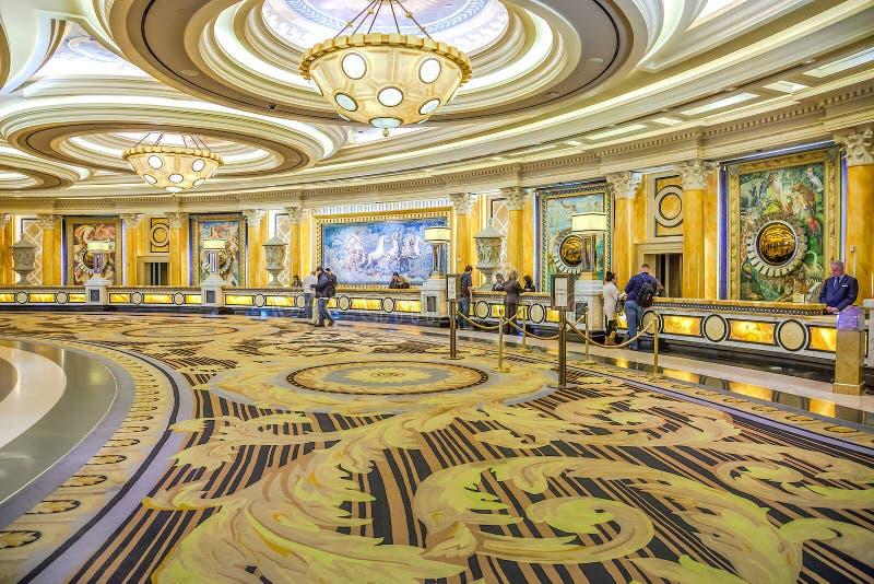 Caesars Palacelobby, hotell och kasino, Las Vegas, NV royaltyfria bilder
