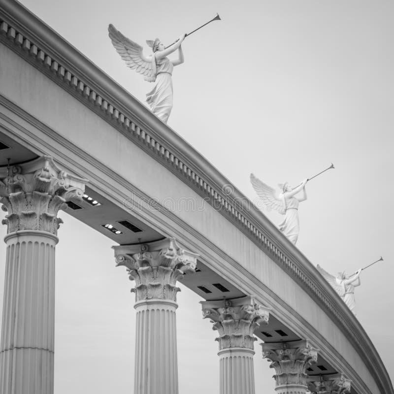 Caesars palasarkitektur n Las Vegas nevada fotografering för bildbyråer