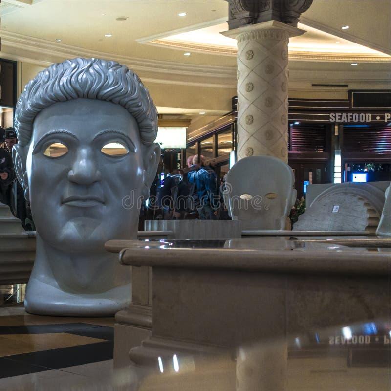 Caesars slottLas Vegas nevada inomhus dekor royaltyfria foton