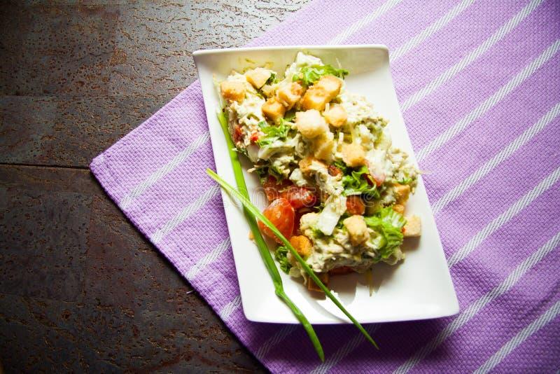 Caesarsalade stock foto's