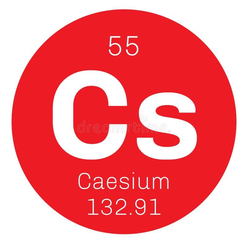 Caesium chemisch element vector illustratie