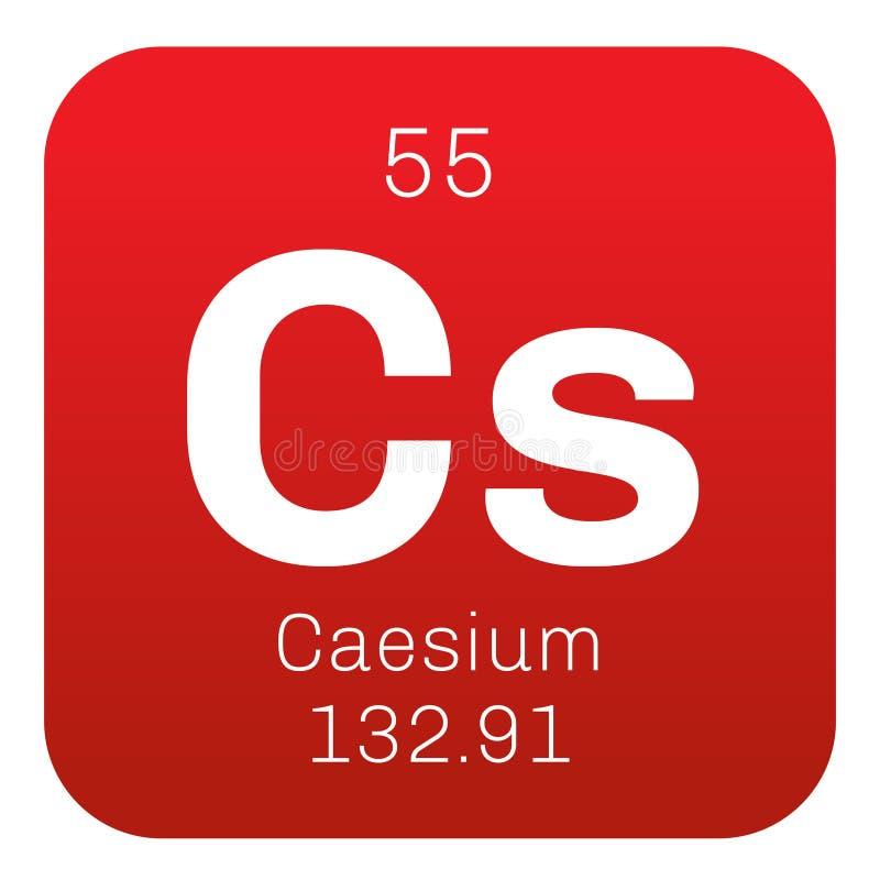 Caesium chemisch element royalty-vrije illustratie
