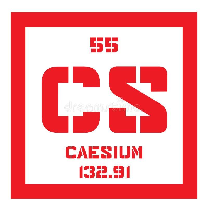 Caesium chemisch element stock illustratie