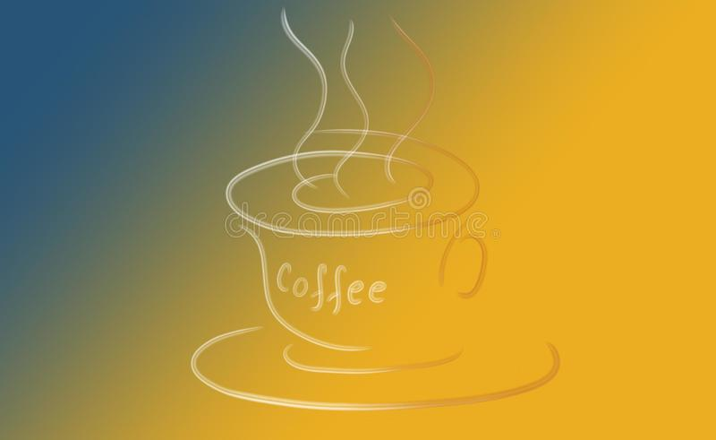 Café abstrakt begreppkopp stock illustrationer