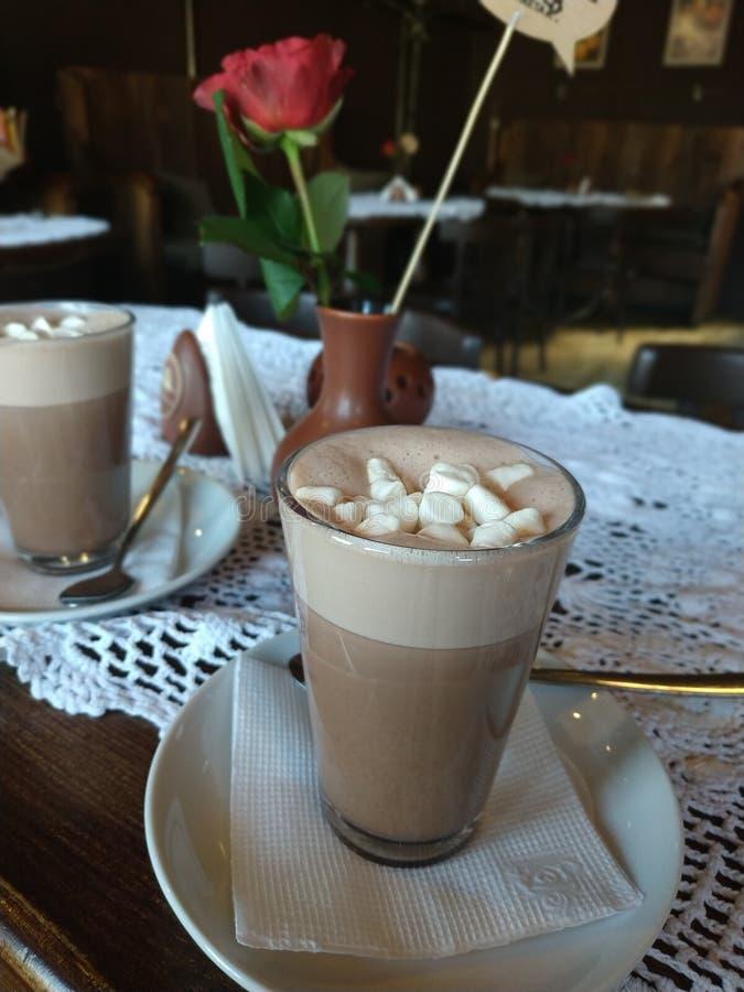 Café, café, chocolate, Rosa, bebida, café da manhã foto de stock