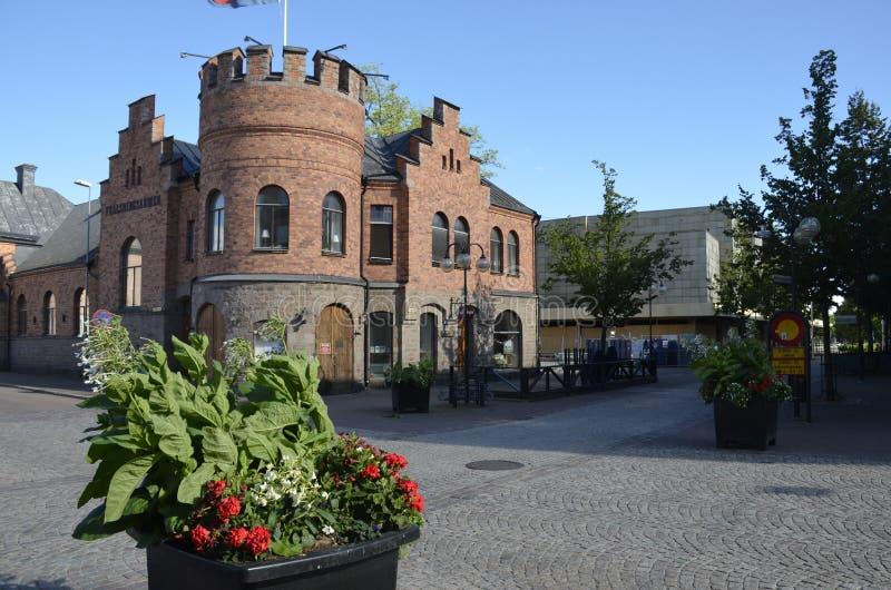 Café Jörgen在克里斯蒂娜港瑞典 库存照片