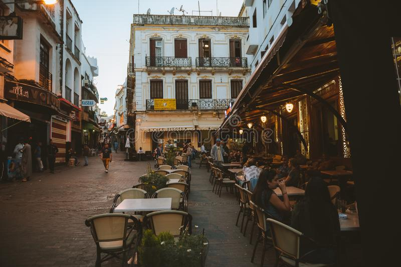 The Cafè Central of  Tanger royalty free stock photos