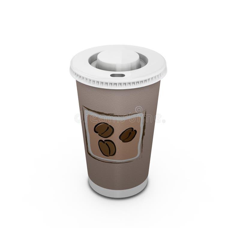 Café à aller illustration stock