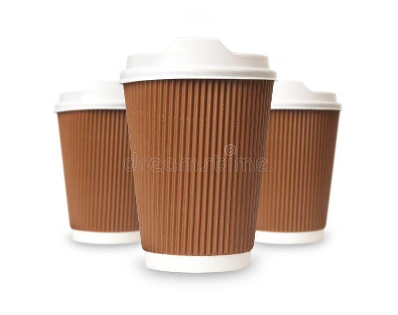 Café à emporter dans la tasse thermo. photographie stock libre de droits