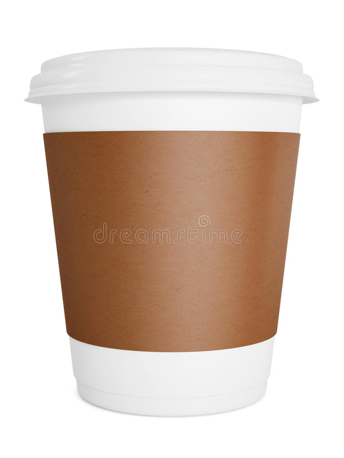 Café à emporter de papier dans la tasse thermo photographie stock
