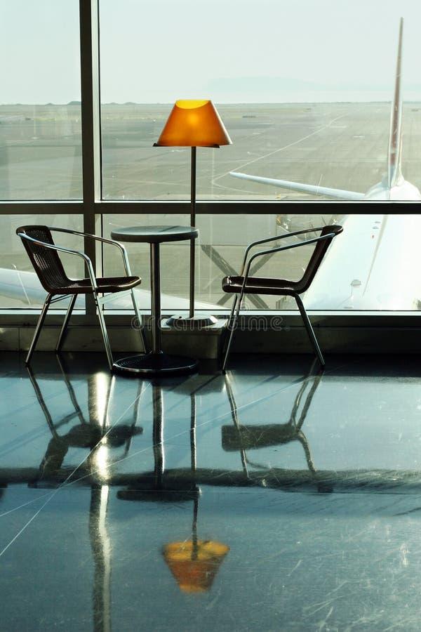Café à l'aéroport images libres de droits