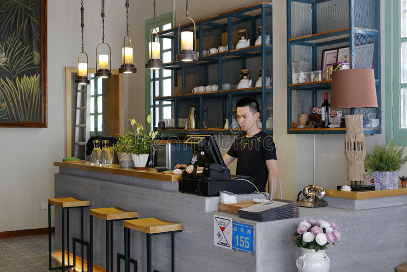 Café à l'intérieur image libre de droits