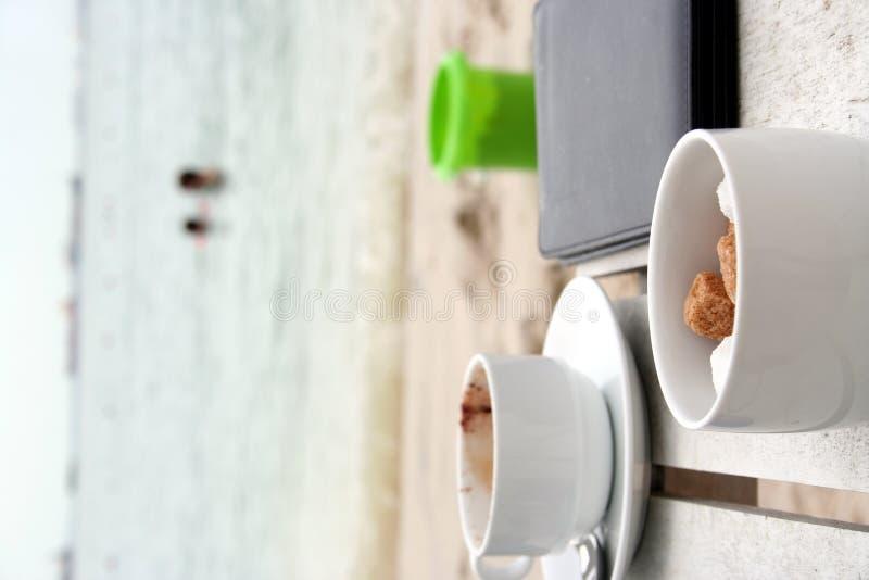 Café à la station balnéaire photographie stock