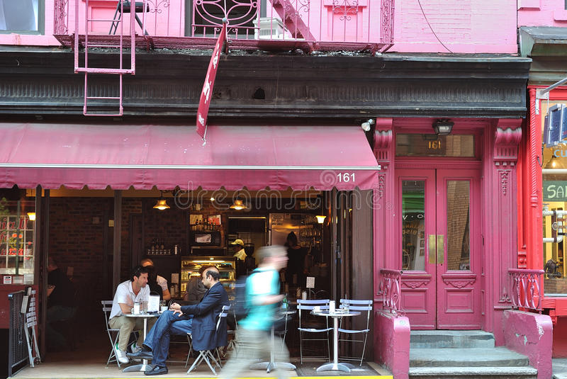 Café à New York City photographie stock